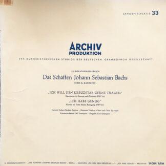 Johann Sebastian Bach — Dietrich Fischer-Dieskau, Hermann Töttcher - Kammerorchester Karl Ristenpart, Karl Ristenpart -