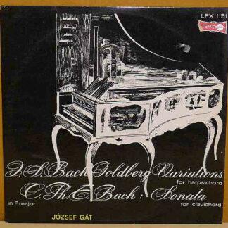 J. S. Bach*, C. Ph. E. Bach*, József Gát - Goldberg Variations BWV 988 / Sonata No. 2 In F Major (LP, Album)