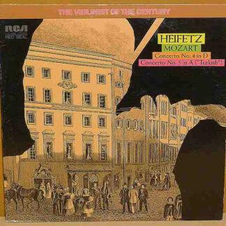 Heifetz*, Mozart* - Concerto No. 4 In D / Concerto No. 5 In A (