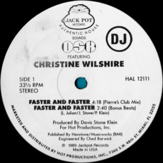 DSK Featuring Christine Wilshire* - Faster And Faster (12