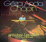 Géza Anda spielt Chopin* - 14 Walzer · Les Valses - Op. 18 · 34 · 42 · 64 · 69 · 70 · Posth. (LP, Gat)