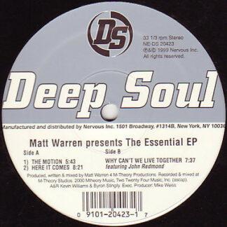 Matt Warren - The Essential EP (12