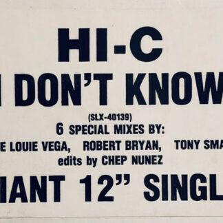 Hi-C (2) - I Don't Know (12