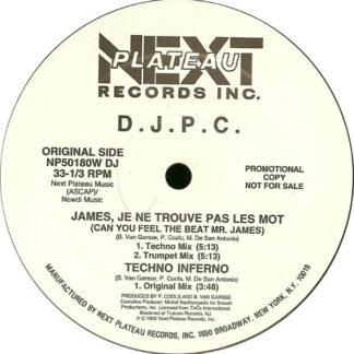 DJPC - James, Je Ne Trouve Pas Les Mot (Can You Feel The Beat Mr. James) (12
