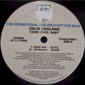Colin England - Come Over, Baby (12