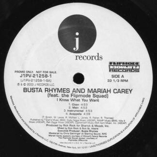 Busta Rhymes & Mariah Carey - I Know What You Want / Call The Ambulance (12