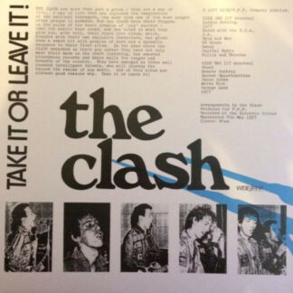 The Clash - Take It Or Leave It (LP, Unofficial, Gre)