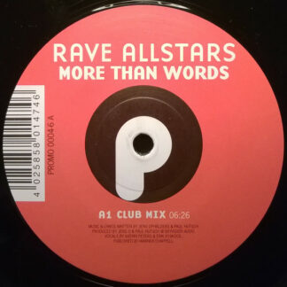 Rave Allstars - More Than Words / Achtung Spass!!! (12