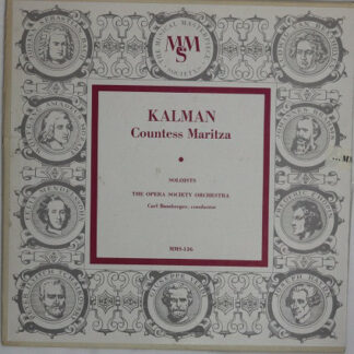 Kalman*, The Opera Society Orchestra, Carl Bamberger - Countess Maritza (10