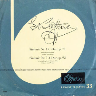 Beethoven* / Bamberger Symphoniker, Josef Duron, Pro Musica Symphonie-Orchester, Wien*, Jonel Perlea - Sinfonie Nr. 1 C-Dur Op. 21, Sinfonie Nr. 7 A-Dur Op. 92 (LP)