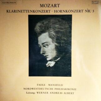 Wolfgang Amadeus Mozart - Kv 622 Klarinettekonzert A Dur / Kv 447 Hornkonzert Nr. 3  (LP)