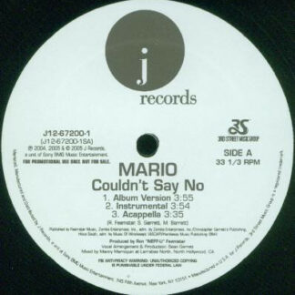 Mario - Couldn't Say No / Call The Cops / How Could You (12