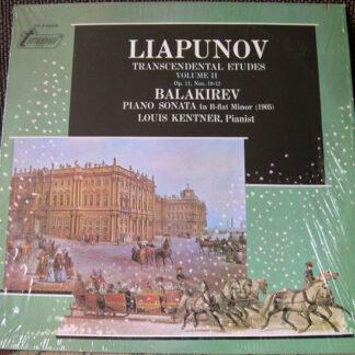 Liapunov* / Balakirev* - Louis Kentner - Transcendental Etudes, Volume II (Op. 11, Nos. 10-12) / Piano Sonata In B-flat Minor (LP)