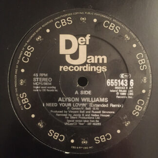 Alyson Williams - I Need Your Lovin' (12