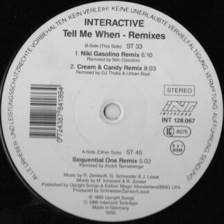 Interactive - Tell Me When (Remixes) (12