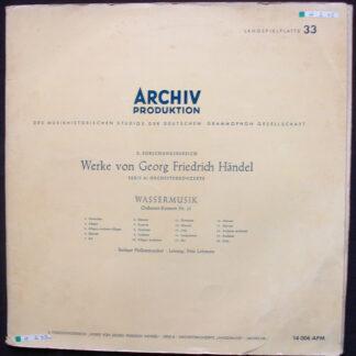 Georg Friedrich Händel, Berliner Philharmoniker, Fritz Lehmann - Wassermusik - Orchester-Konzert Nr.25 (LP, Mono, Rec)