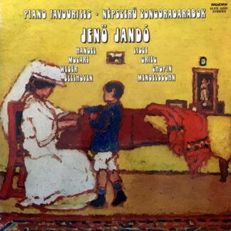 Jenö Jandó - Piano Favourites / Népszerű Zongoradarabok (LP)
