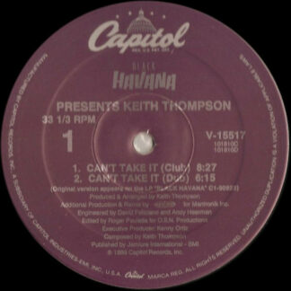 Keith Thompson - Can't Take It (12